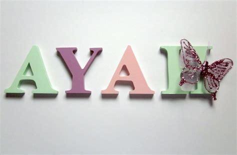 wood letters 35 6cm letter e intl name letters for wall or door 6cm 4 letters and motif