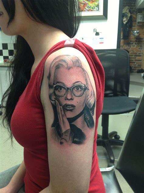 small marilyn monroe tattoos marilyn portrait i did marilynmonroe