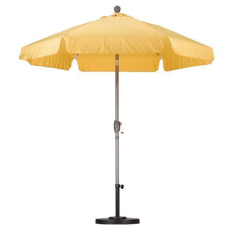 Fiberglass Patio Umbrella California Umbrella 7 1 2 Ft Fiberglass Push Tilt Patio Umbrella In Yellow Spunpoly Alus756t