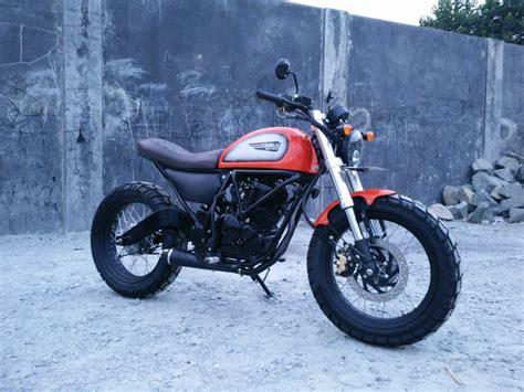 Modifikasi Motor Classic by Modifikasi Scorpio Scrambler Dengan Sentuhan H D Ultra Classic