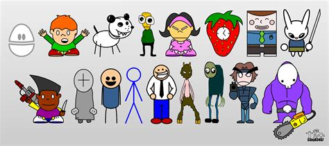 mobile newgrounds newgrounds and other characters 2 by 53xy83457 on