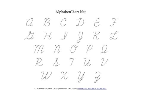 printable alphabet tracing chart worksheets english alphabets in cursive writing pdf
