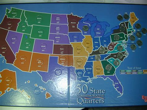 state quarters of the united states collectors map collector s two cents curious monkey 247