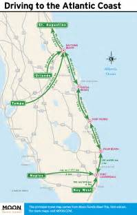 map of atlantic coast of florida 1 week florida road trip miami the atlantic coast orlando