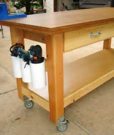rolling tool bench ana white rolling workbench with quot drill holders quot diy projects