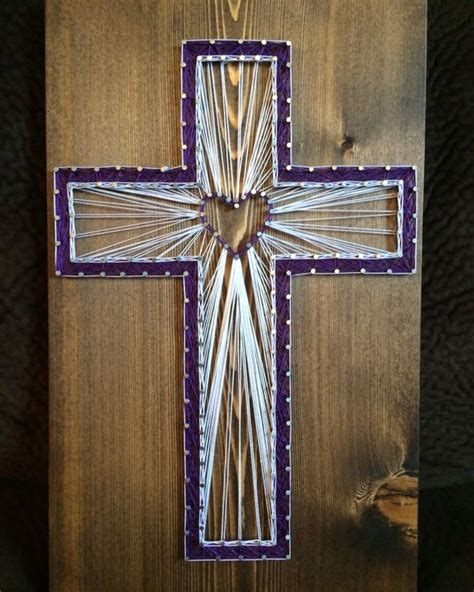String Cross - custom cross string religious christian decor home