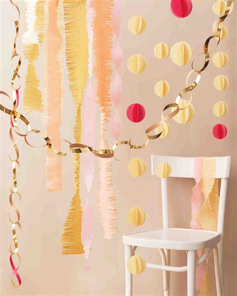 Make Paper Decorations - easy to make paper decorations for your wedding martha
