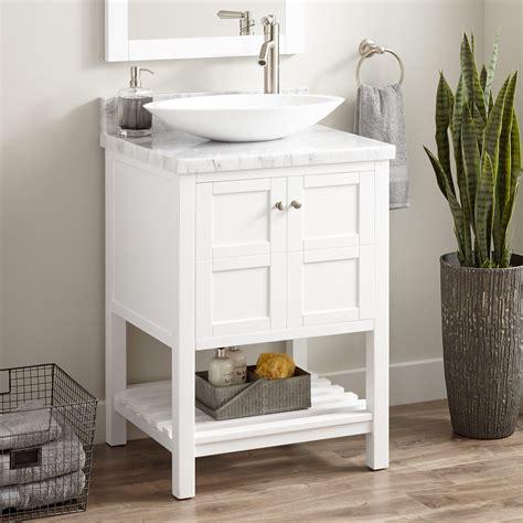 24 quot everett vanity for 24 quot everett vessel sink vanity white bathroom