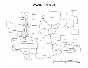 Washington State Blank Map by Washington State Outline