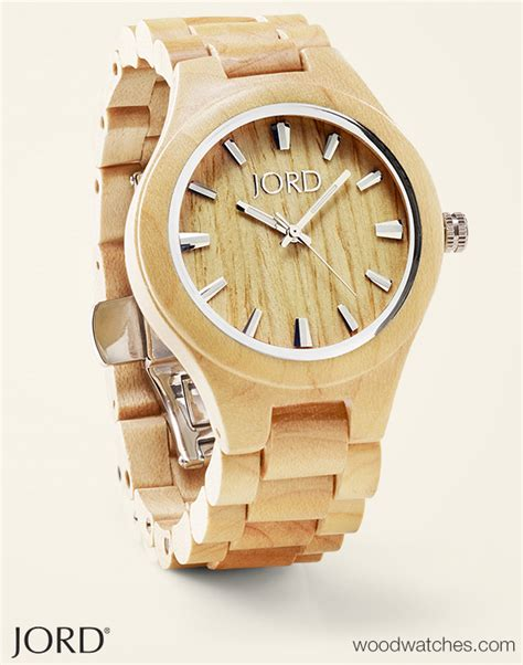 maple wood watches by jord
