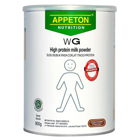Appeton Weight Gain 900gr appeton weight gain coklat 900 gr gogobli