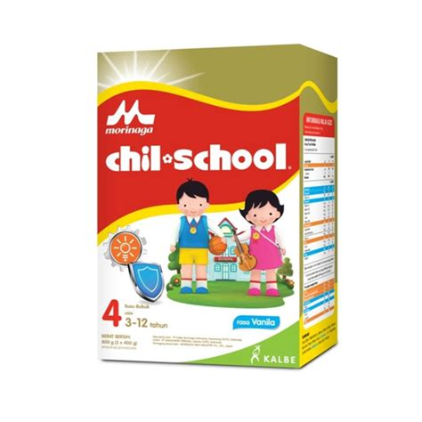Chil School Platinum Coklat 800 Gram Pertumbuhan Anak 3 12 Tahun hypermart chil school vnl box 800 gr