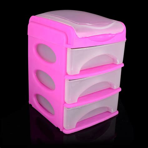 new 3 drawer mini desk top storage trays small plastic