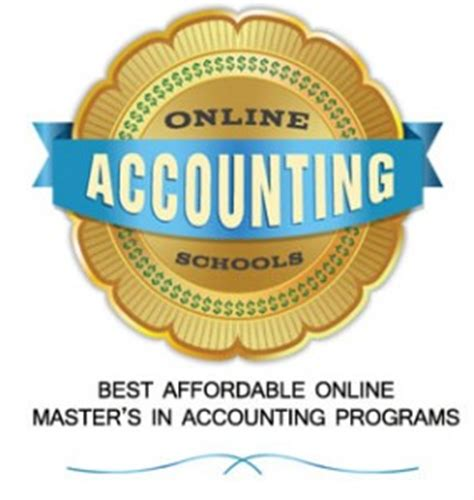 Best Affordable Mba Accounting Programs by Top Accounting Degrees The 1 Guide To The Best