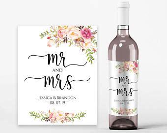 wedding wine labels wedding wine printable wine label