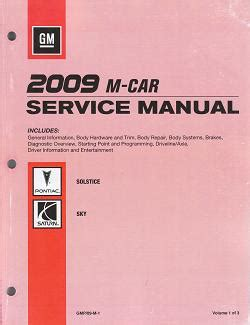 car repair manual download 2009 pontiac solstice auto manual 2009 pontiac solstice saturn sky factory service manual