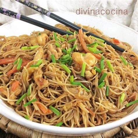 como cocinar fideos de arroz chinos fideos de arroz salteados divina cocina