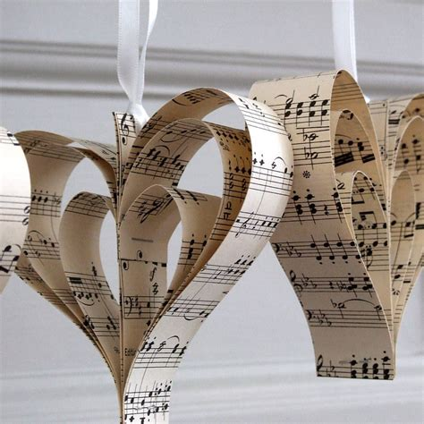 handmade sheet music heart decoration by re made