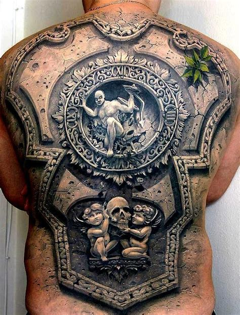 tattoo 3d armor amazing 3d back piece tattoos i luv pinterest armors