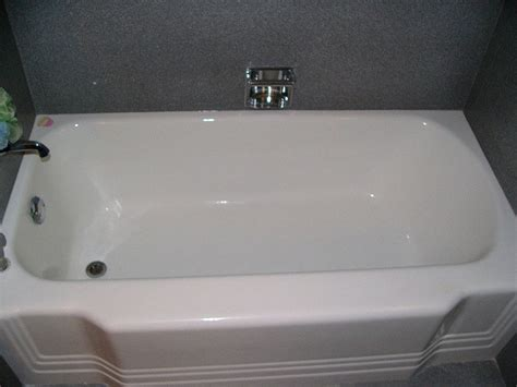 miracle bathtub refinishing a standard high gloss white tub refinish yelp