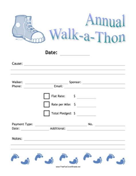 Sponsorship Letter For Walk A Thon Walkathon Donation Fax Fax Cover Sheet At Freefaxcoversheets Net