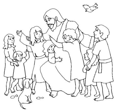 coloring page jesus of god jesus the children coloring pages coloring home