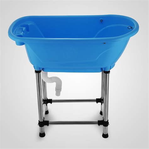 pet bathtub vevor fibre glass fibreglass plastic dog pet cat grooming