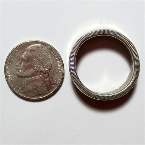 canada 50c silver coin ring 1964