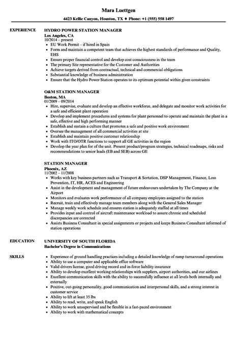 fancy gas station manager resume composition resume