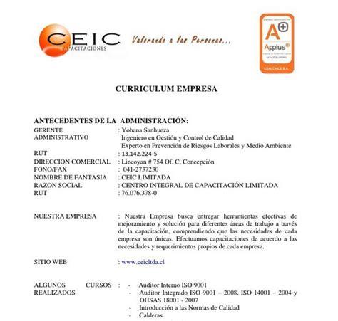curriculum empresarial curriculum de empresa curriculum empresarial pinterest