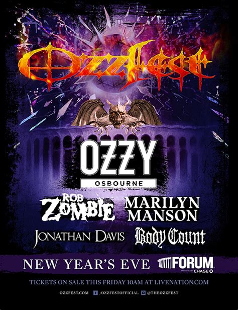 celebrity deathmatch ozzy vs rob zombie ozzfest new year s eve los angeles spectacular to feature