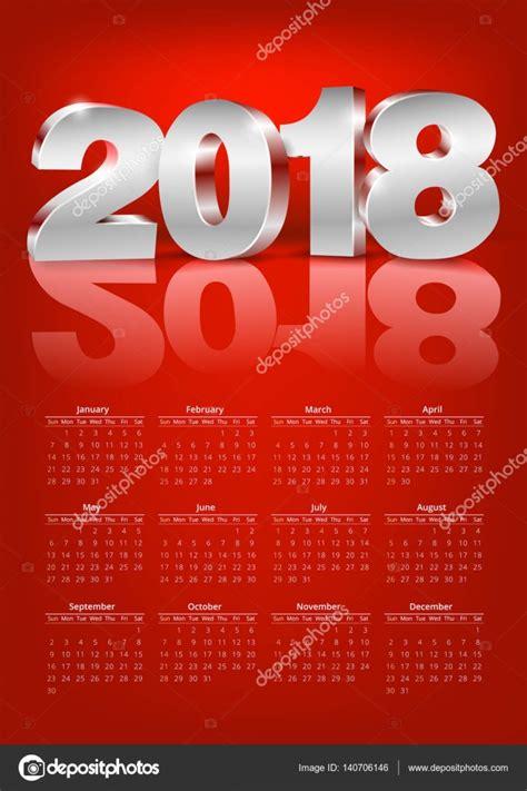 Calendario 2018 Vetor Calend 225 2018 Vector Vetor De Stock 169 Iunewind 140706146