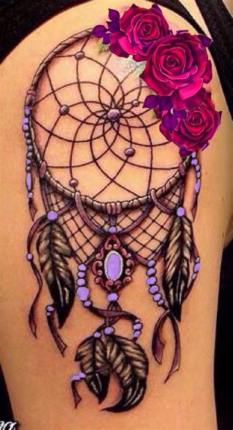 dreamcatcher with roses tattoo left hip unique rose tattoo popular pins