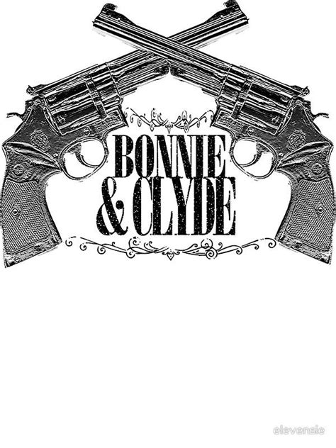 Hoodie Bb 239 quot bonnie clyde crossed guns quot t shirts hoodies by