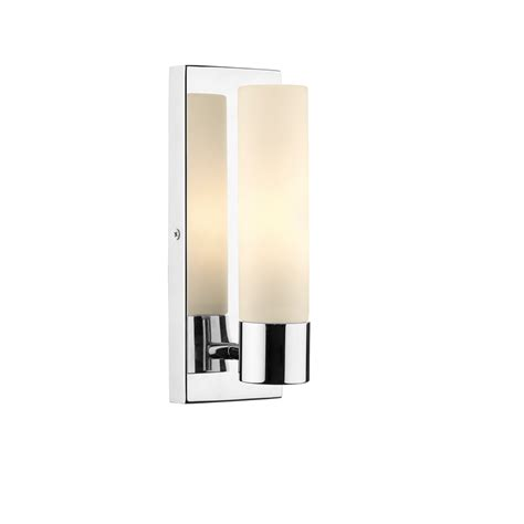 Dar Bathroom Lighting Dar Ada0750 Adagio 1 Light Polished Chrome Bathroom Wall Light
