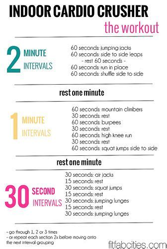 cardio workout at home fitness interval