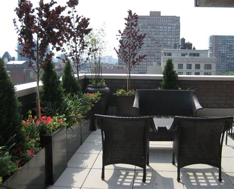 Planters Nyc by Rooftop Terrace Roof Garden Balcony Container Plants