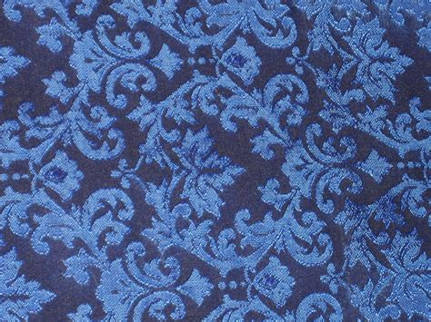 Saten Royal Silk spun silk brocade fabric royal blue color 44 quot bro188 5