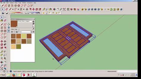 tutorial sketchup 2016 español tutorial sketchup membuat pintu dan jendela menggunakan