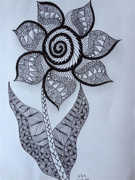 doodle pen one show simple zentangle flowers www pixshark images