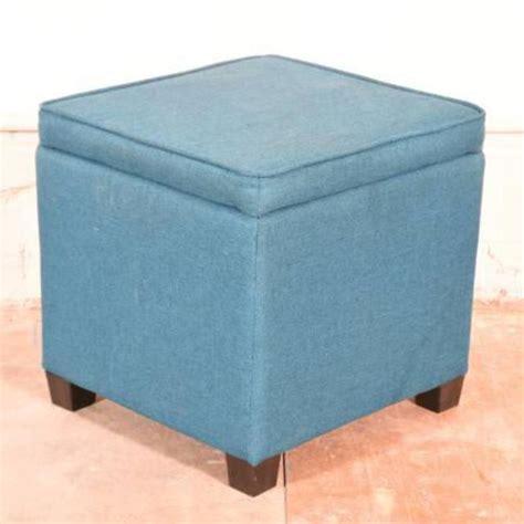 teal blue ottoman teal blue storage ottoman loveseat vintage furniture san