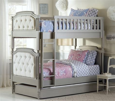Grey Bunk Beds Blythe Bunk Bed Pottery Barn