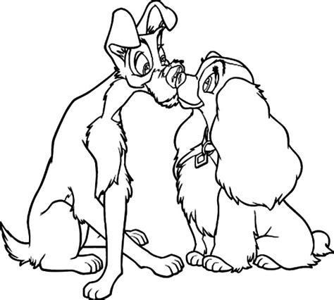 disney coloring pages lady and the tr lady and the tr printable coloring pages 24556