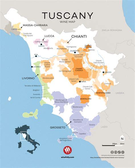 tuscany map tuscany region italy map