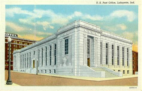 Lafayette Indiana Post Office by Postcards From Tippecanoe County Indiana