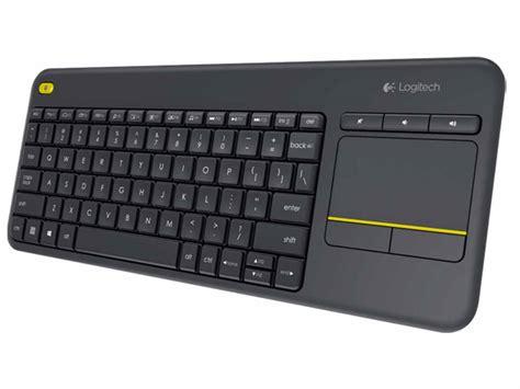 Touchpad Logitech logitech k400 plus wireless keyboard with touchpad black 920 007165 centre best pc