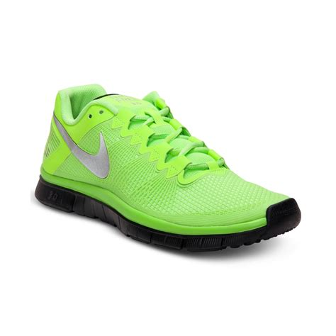 nike lime green sneakers nike free trainer 30 cross sneakers in green for
