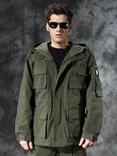 Jaket Park Navy Xxxl us army 101 air winter jacket thermal trench with winter wadded jacket fleece lining