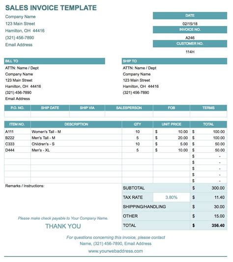 free sales invoice template for excel best sales receipt sample