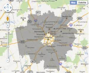 atlanta area code map area code 770 interactive map with zip code boundary zip